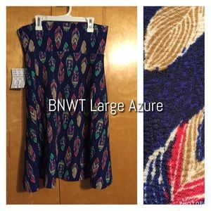 LuLaRoe Navy Feather Azure